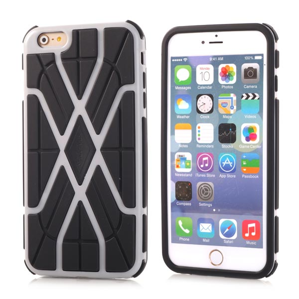 Slicoo iPhone 6 / 6S kryt Sleek Spider TPU šedý