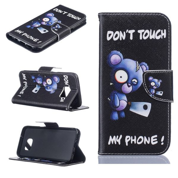 Pouzdro na Samsung Galaxy S7 Edge Do Not Touch My Phone medvěd