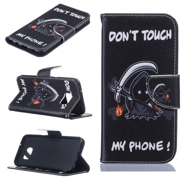 Pouzdro na Samsung Galaxy S7 Edge Do Not Touch My Phone demon