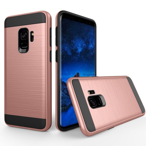 Kryt na Samsung Galaxy S9 Brushed růžový - rose gold