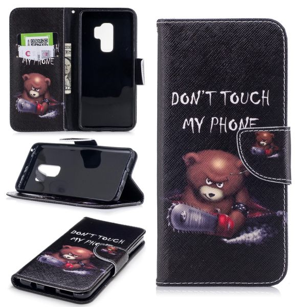 Pouzdro pro Samsung Galaxy S9 Plus Don't Touch My Phone Angry Bear