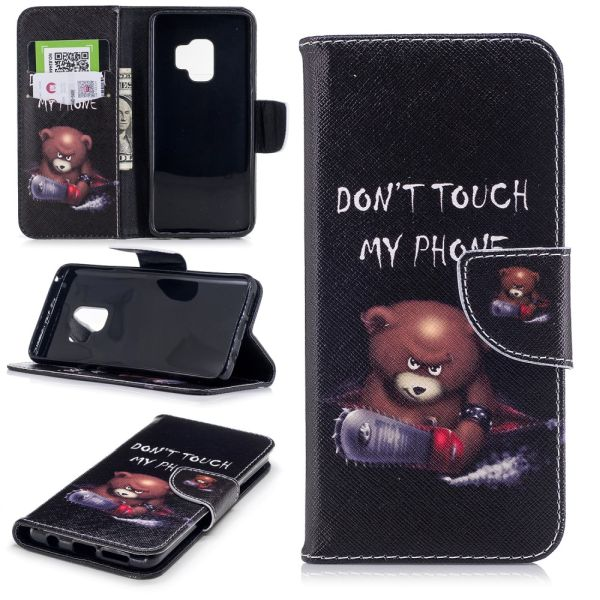 Pouzdro pro Samsung Galaxy S9 Don't Touch My Phone Angry Bear