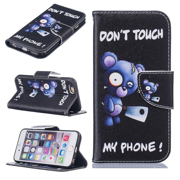 Pouzdro na iPhone 6 / 6S Don't Touch My Phone Bear