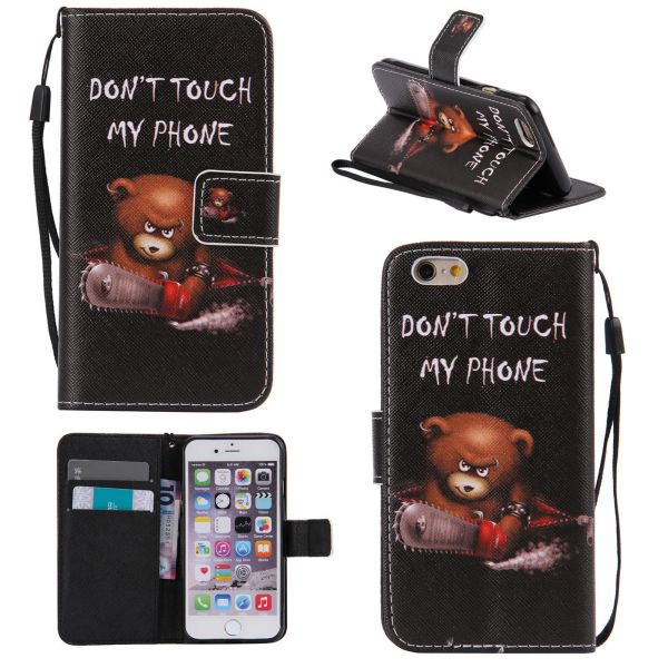 Pouzdro na iPhone 5 / 5S  / SE Don't Touch My Phone Angry Bear