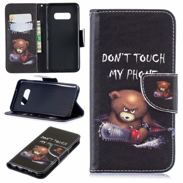 Pouzdro na Samsung Galaxy S8 Plus Don't Touch My Phone Angry Bear