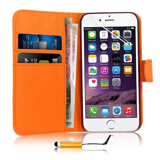 Slicoo iPhone 6   6S pouzdro Color s přihrádkou na kreditní karty oranžové  empty 04858c4be40