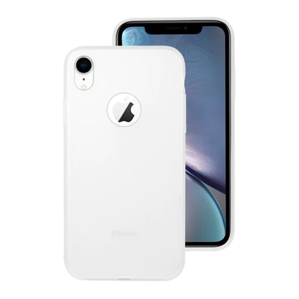 Kryt na iPhone Xr Candy hole bílý