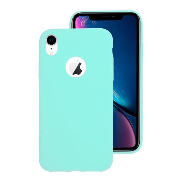 Kryt na iPhone Xr Candy hole modrý