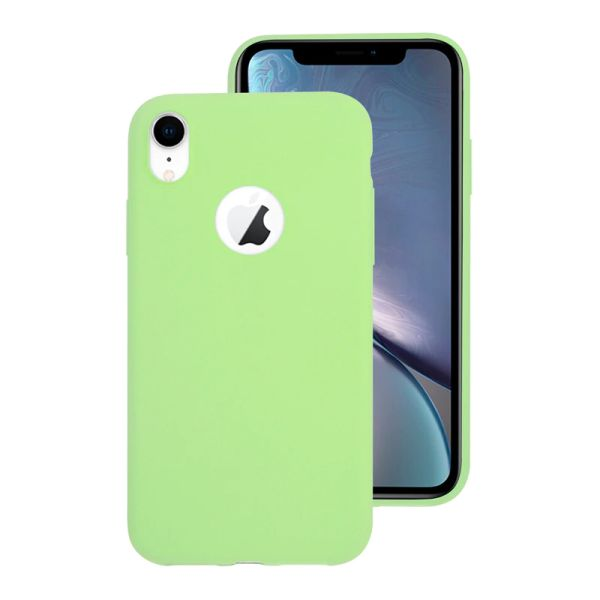 Kryt na iPhone Xr Candy hole zelený