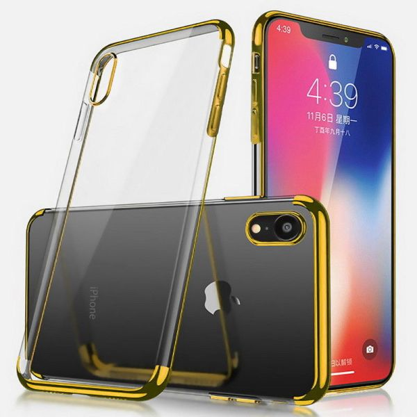 Kryt na iPhone Xr Electroplated zlatý
