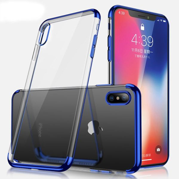 Kryt na iPhone Xr Electroplated modrý