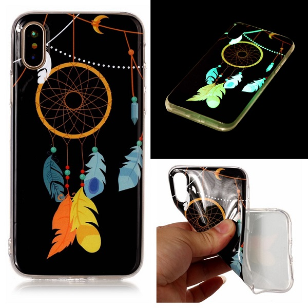 Kryt na iPhone Xr svítící lapač snů Feather & String