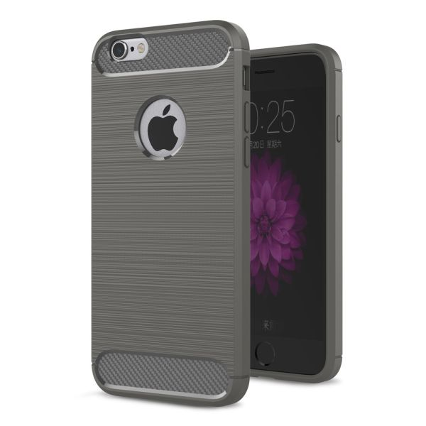 Slicoo iPhone 6 / 6S kryt Carbon šedý
